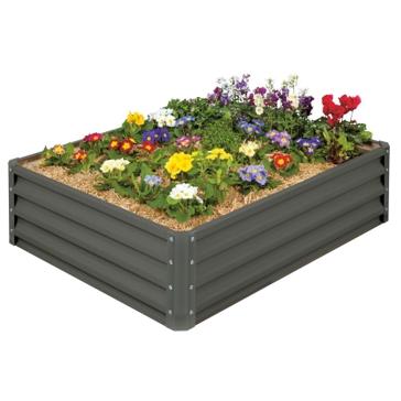 Strarco Raised Garden Bed - Slate Gray