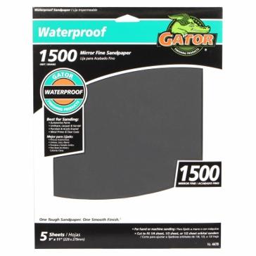 Gator Waterproof 9X11 1500 Grit Sandpaper 5PK