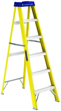 Louisville 6 ft. Fiberglass Stepladder Type 1 250lb FS2006