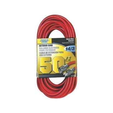 Power Zone 14/3 SJTW Heavy Duty Outdoor Extension Cord 50FT