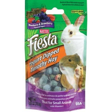 Kaytee 2.5 oz. Fiesta Blueberry & Strawberry Yogurt Dipped Timothy Hay 100037224