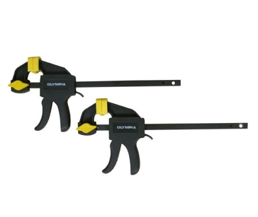 Olympia Tools 2 Pack Mini Ratcheting Bar Clamp & Spreader Set 38-240