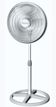 "Aerospeed 16"" Oscillating Pedestal Fan"