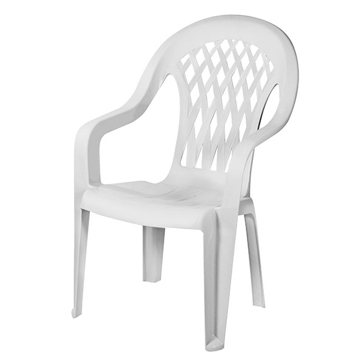 Gracious Living White Garden Lattice Stack Chair