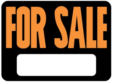 Hy-Ko 9in x 12in General For Sale Plastic Sign 3006