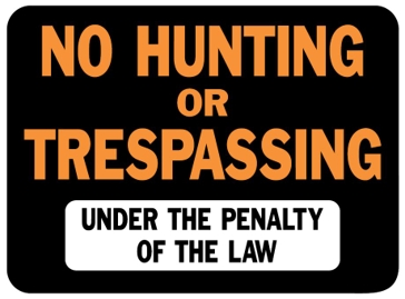 Hy-Ko 9in x 12in No Hunting or Trespassing Plastic Sign 3011