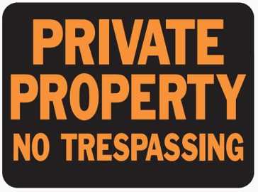Hy-Ko 9in x 12in Private Property No Trespassing Plastic Sign 3025