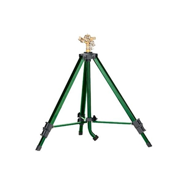 Orbit Brass Impact Sprinkler on Tripod Sprinkler Base