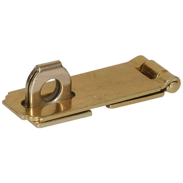 Hillman Zinc & Yellow Dichromate Fixed Staple Safety Hasps