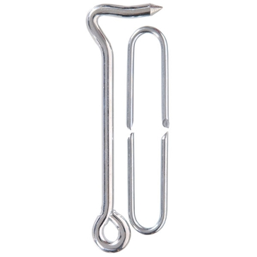 Hillman Zinc-Plated Heavy Gate Hook w/Staple