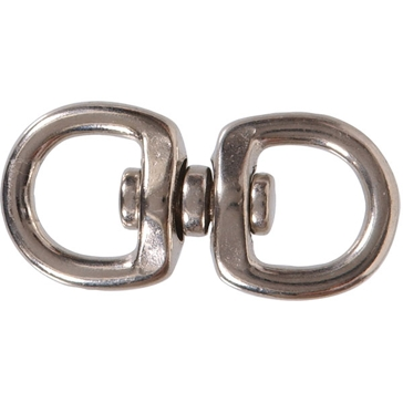 "Hillman 5/8"" x 2-1/2"" Nickel Plated Double Round Swivel Eye"