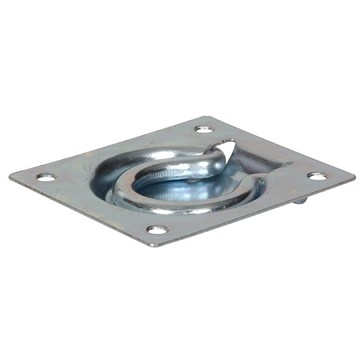 "Hillman Zinc Plated 3"" x 3-1/2"" Flush Trap Door Ring Chest Handle"