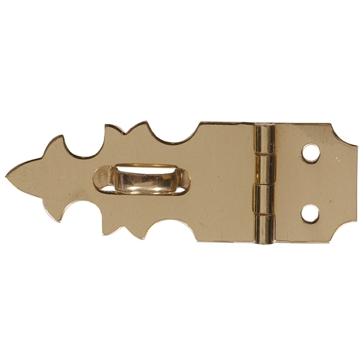 """Hillman 5/8x1-7/8"""" Solid Brass/Bright Brass Mini Decorative Hasps"""