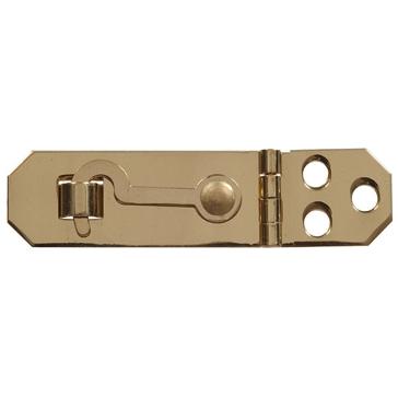 """Hillman 3/4x2-3/4"""" Solid Brass/Bright Brass Mini Decorative Hasps"""