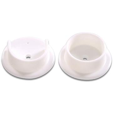 Hillman White Plastic Pole Socket Set