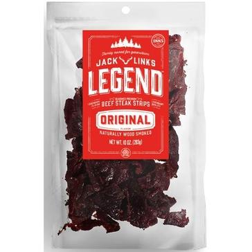 Jack Link's Legend Beef Jerky Strips, Original Flavor (10 oz)
