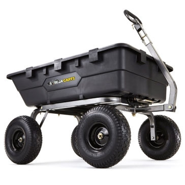 Gorilla Cart 1500lb. Heavy Duty Poly Dump Cart