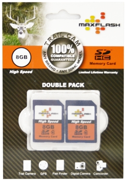 Maxflash 8GB 2-Pack SD Memory Cards