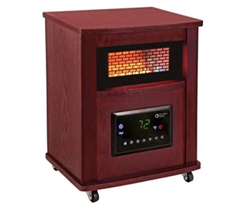 Comfort Zone Infrared Heater 1500W- 4 Bulb -Cherry