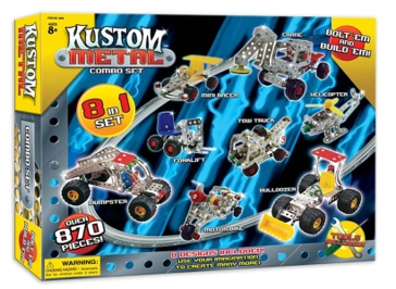 Kustom Metal 8 in 1 Building Toy Set 6860
