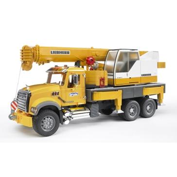 Bruder 1:16 Mack Granite Crane Truck
