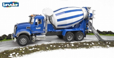 Bruder Mack Granite Cement Mixer 1:16 Scale Construction Toy 2814
