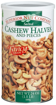 Cashew Halves & Pieces 24 Oz.