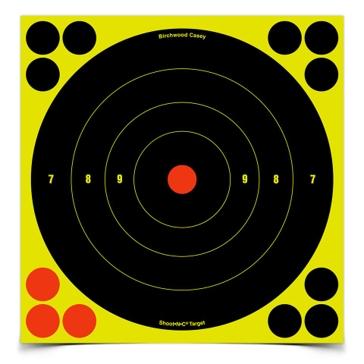 Birchwood Casey Shoot-N-C Sight-In Bullseye Target 8in Round 34805