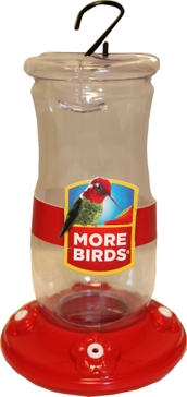 More Birds 12oz Hummingbird Foxglove Feeder