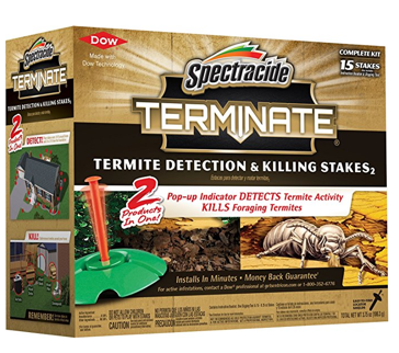 Spectracide Terminate Termite Detection Killing Stakes, 15 Count