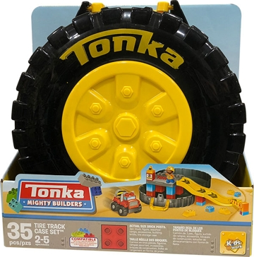 Tonka Mighty Builders 35 pc. Tire Track Case Set