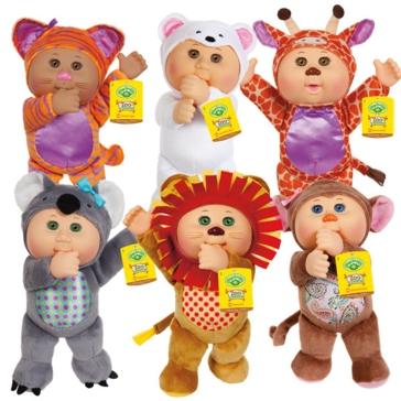 "Cabbage Patch Kids 9"" Cutie Zoo Friends Asst."