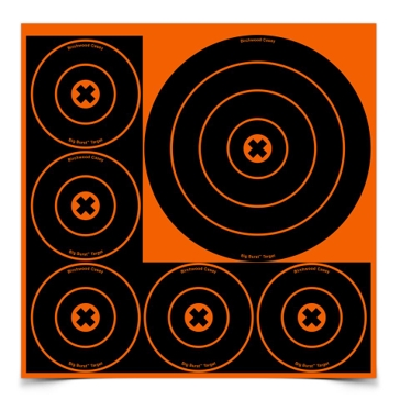 Birchwood Casey Big Burst 8in and 4in Bullseye Target 36818