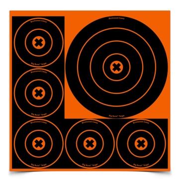 Birchwood Casey Big Burst 8in and 4in Bullseye Target 36818