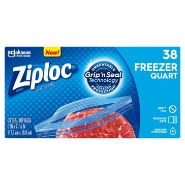 Ziplock Gallon Freeze Bags- 28 CT.