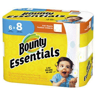 Bounty Essentials 6PK Paper Towels Big Roll Prints