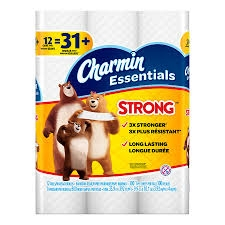 Charmin Essentials 12 Giant Rolls- Strong