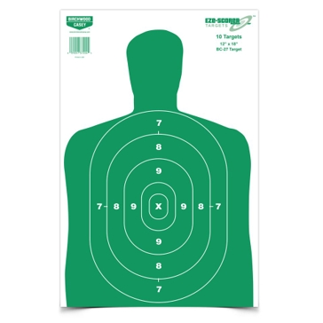 Birchwood Casey Eze-Scorer 12x18in BC-27 Green Paper Target 37204