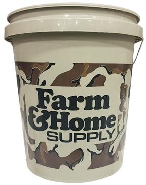 Farm & Home Logo 5 Gallon Bucket Camo