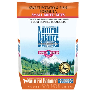 Natural Balance Limited Ingredient Diets Sweet Potato & Fish Small Breed Bites Dry Dog Food 4.5lb