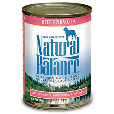 Natural Balance Ultra Premium Beef Formula Wet Dog Food 13oz
