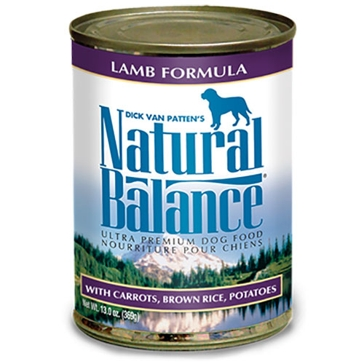 Natural Balance Ultra Premium Lamb Formula Wet Dog Food 13oz