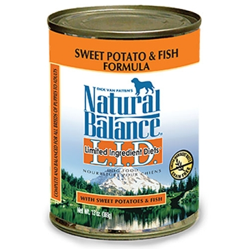 Natural Balance Limited Ingredient Diets Sweet Potato & Fish Formula Wet Dog Food 13oz