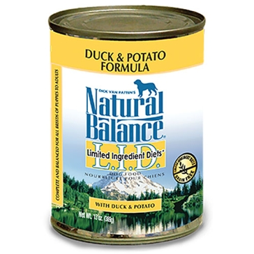 Natural Balance Limited Ingredient Diets Duck & Potato Formula Wet Dog Food 13oz
