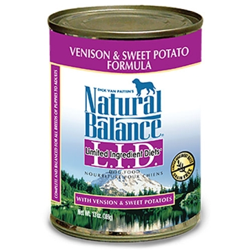 Natural Balance Limited Ingredient Diets Venison & Sweet Potato Formula Wet Dog Food 13oz
