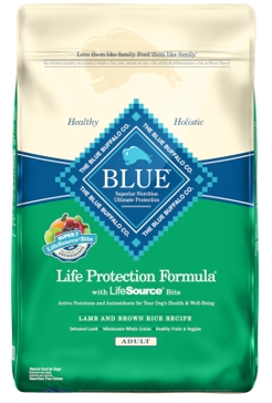 Blue Buffalo Life Protection Adult Lamb & Brown Rice Recipe Dry Dog Food 15lb