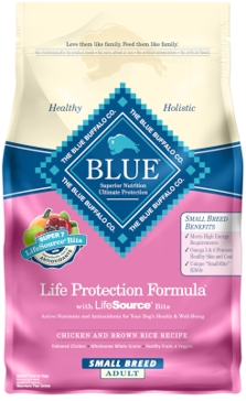 Blue Buffalo Life Protection Adult Small Breed Chicken & Brown Rice Recipe Dry Dog Food 6lb