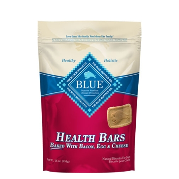 BLUE Health Bars Baked with Bacon, Egg & Cheese Natural Biscuits for Dogs 16oz