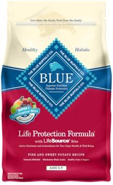 Blue Buffalo Life Protection Adult Fish & Sweet Potato Recipe Dry Dog Food 6lb