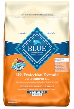 Blue Buffalo Life Protection Adult Large Breed Chicken & Brown Rice Recipe Dry Dog Food 30lb